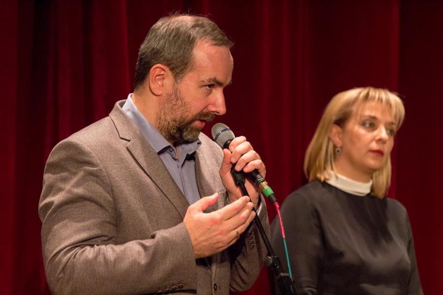 Дарья Виолина с коллегой на сцене