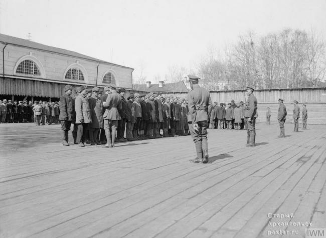 Русские рекруты для Славяно-Британского легиона. 1919 год