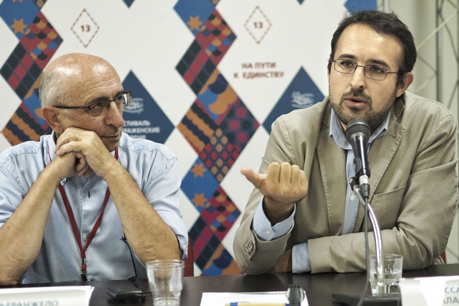 Pierangelo Torricello, Chairman of the Associations of Italian Christian Labors; Alessandro Salakone, Head of the Representation from the Society of St. Egidio in Russia