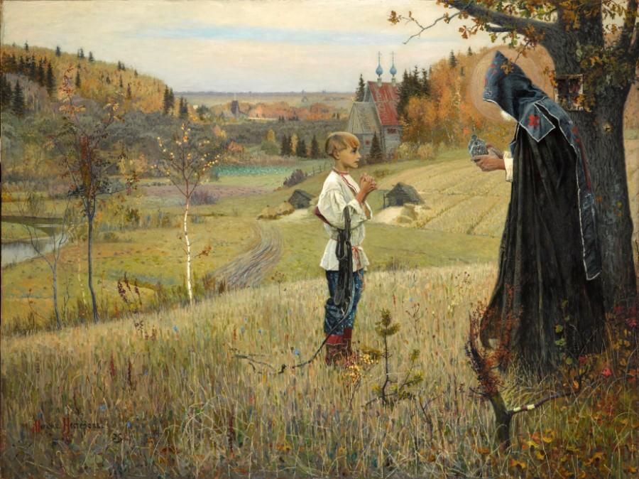 М. В. Нестеров. «Видение отроку Варфоломею», 1890. Государственная Третьяковская галерея
