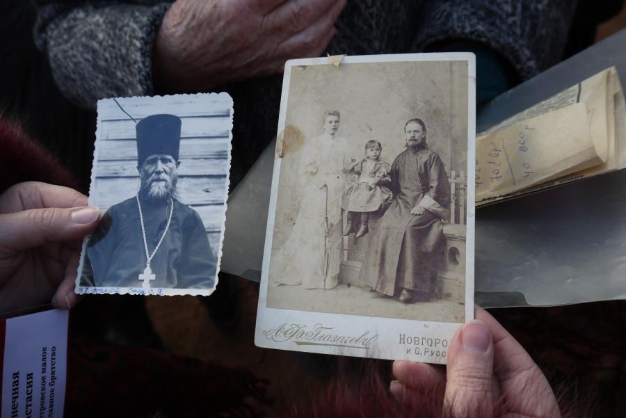 Фотографии священника Иоанна Нечаева, расстрелянного в 1937 году, принесла к Соловецкому камню его внучка