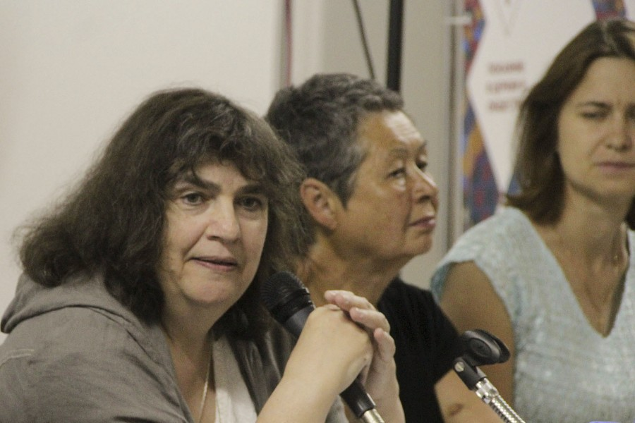 Слева – Анна Шмаина-Великанова, библеист, доцент СФИ и Центра изучения религий РГГУ