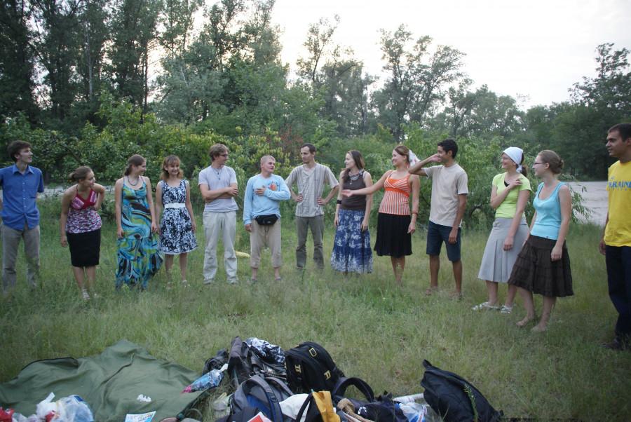 Знакомство с молодежью из братства преп. Ионы. Киев, 2010 г.