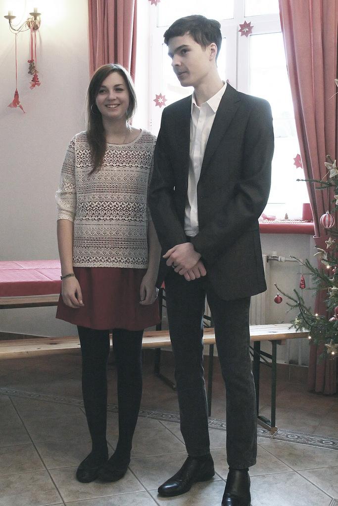 Ведущие праздника - Анастасия и Иван