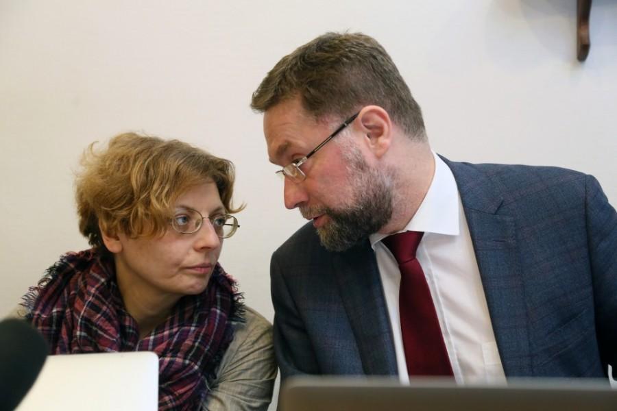 Декан богословского факультета СФИ Зоя Дашевская, первый проректор СФИ Дмитрий Гасак
