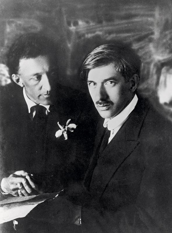 Александр Блок и Корней Чуковский. 1921 год