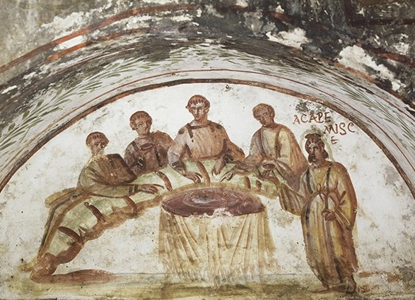 Агапа. Фреска из катакомб Петра и Марцеллина. IV век