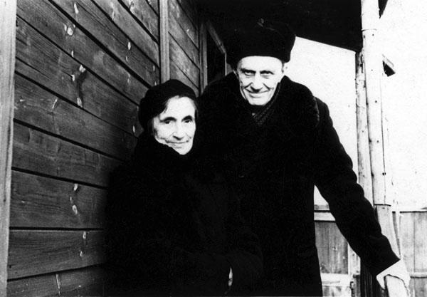 Сергей Иосифович Фудель с женой Верой Максимовной. Покров, 1970-е годы. Взято с сайта www.fudel.ru