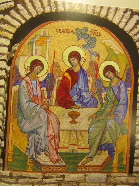 Мозаика Святой Троицы, созданная по эскизу Евгения Евгеньевича Климова