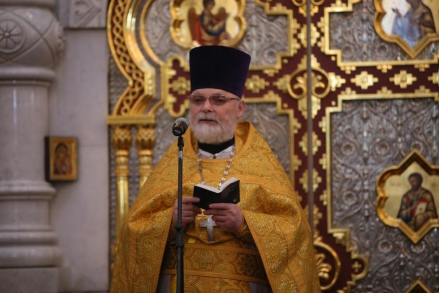 Ректор СФИ священник Георгий Кочетков, проповедь на литургии в Храме на Крови