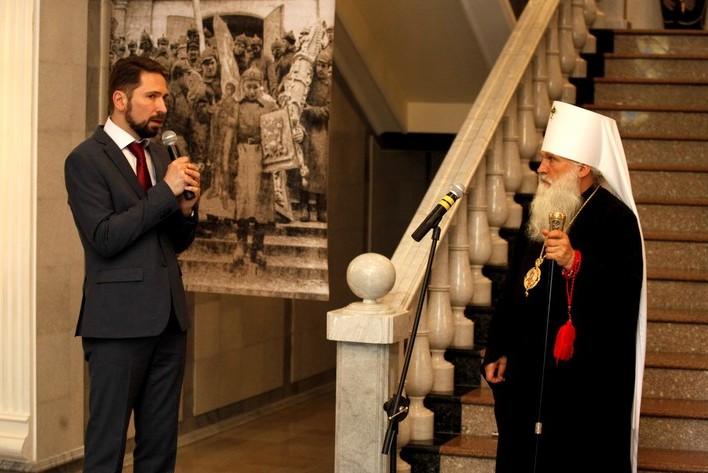 Президент КПФ «Преображение» Алексей Наумов, митрополит Ташкентский и Узбекистанский Викентий