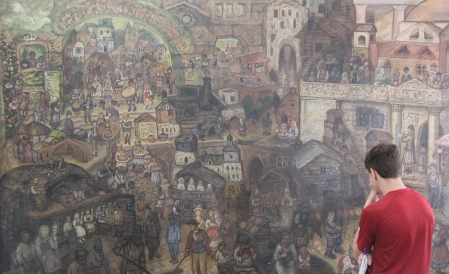 Картина «Город всеобщего благоденствия», художник Ефим Честняков. Костромской музей-заповедник
