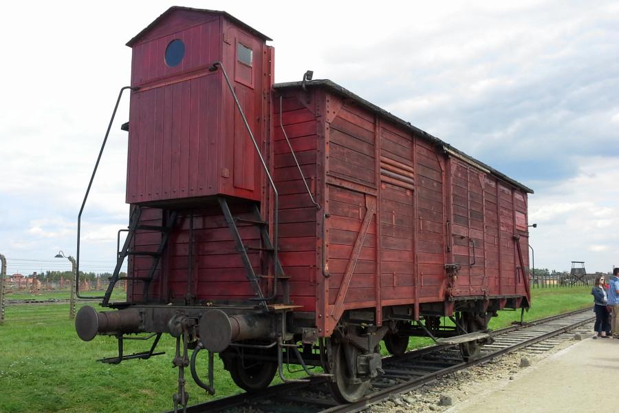 В таких вагонах заключенных привозили в Аушвиц