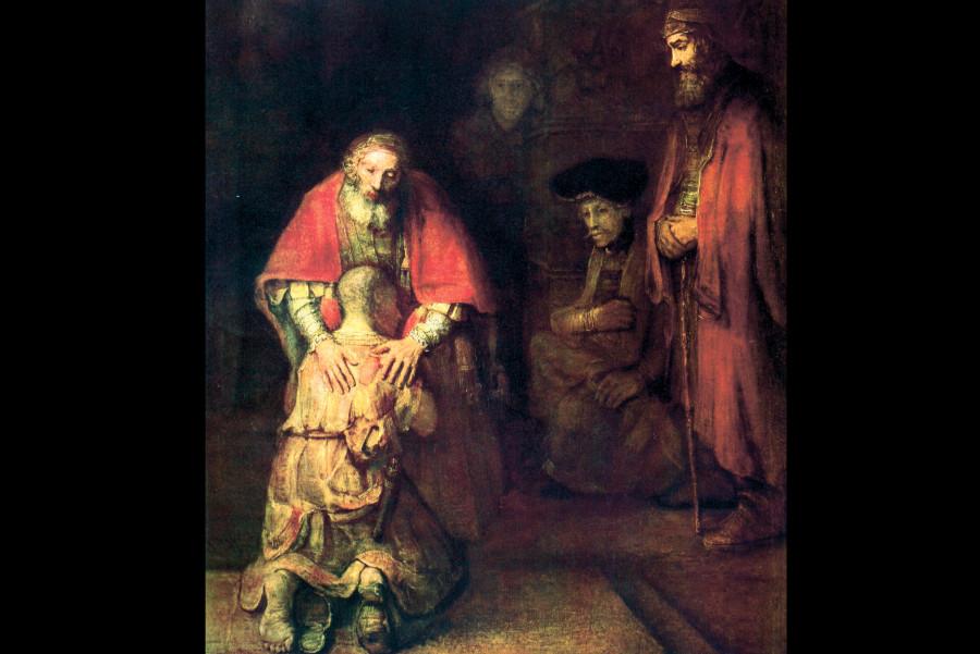 Рембрандт Харменс ван Рейн. Возвращение блудного сына, ок. 1666-69