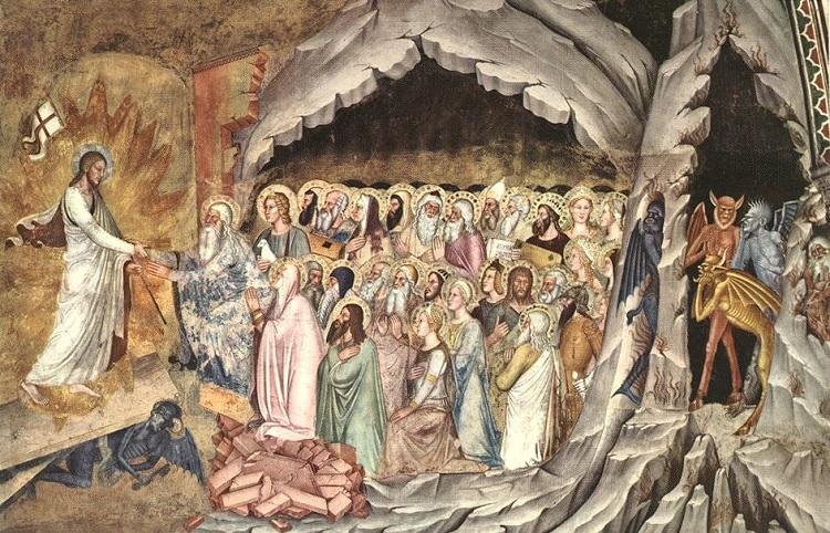 Христос выводит праведников из ада. Фреска Андреа Бонаиути да Фиренце, церковь Санта-Мария-Новелла, Флоренция. 1365–1368 годы. Фото: https://ru.wikipedia.org/