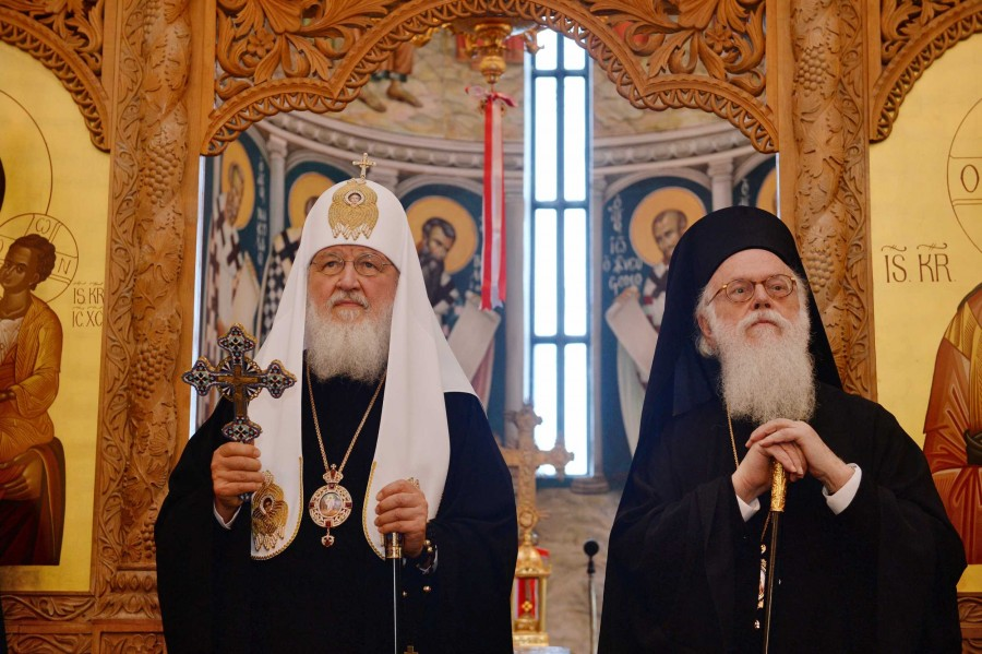 Патриарх Кирилл и архиепископ Анастасий