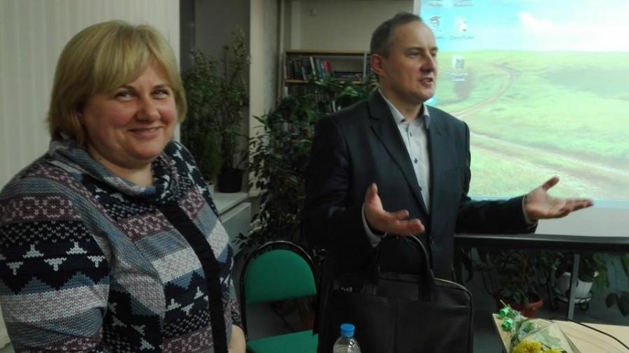 Профессор Валерий Цысь и Елена Никитина