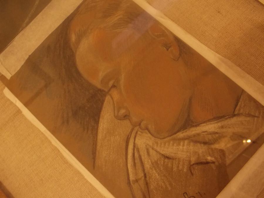 Е.Ю. Скобцова. Портрет умирающей дочери Настеньки. 1926. Из частной коллекции