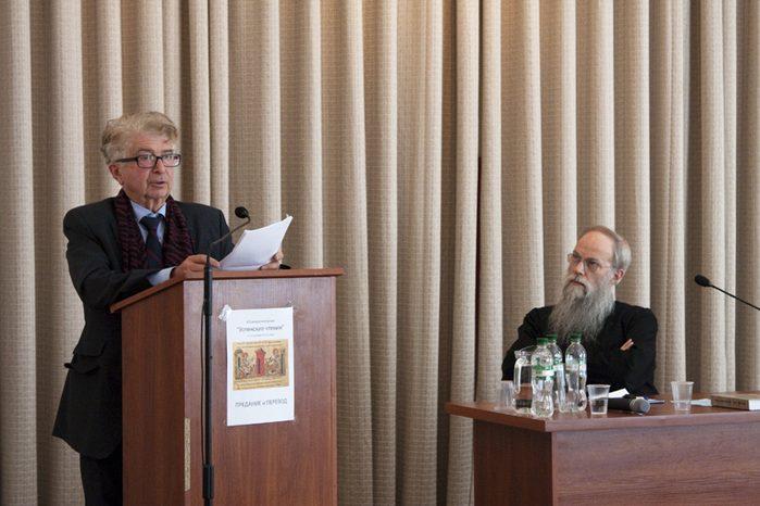 Выступление профессора Жоржа Нива. Фото Кирилла Мозгова