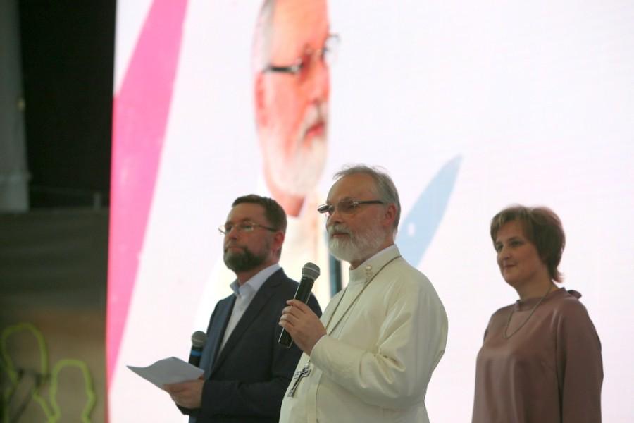 Dmitry Gasak, Chairman of the Transfiguration Brotherhood; Fr Georgy Kochetkov, Spiritual Father of the Transfiguration Brotherhood and Rector of SFI; Yulia Balakshina, Academy Secretary of SFI