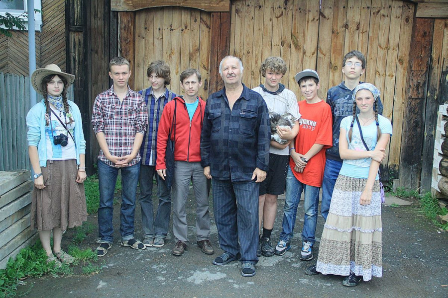 С Сергеем Алексеевичем Захаровым, внуком о. Александра Захарова