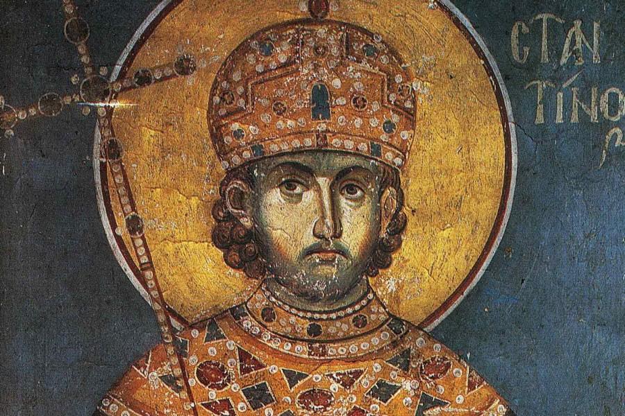 Константин Великий. Фреска, Греция