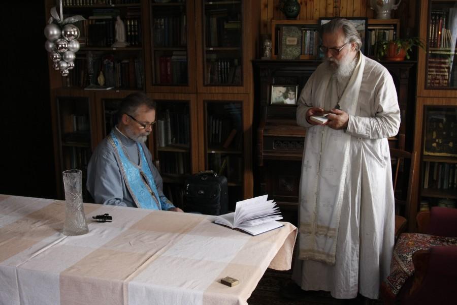 Священник Георгий Кочетков в гостях у отца Павла Адельгейма