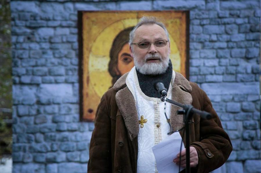 Молитва памяти. Москва, ул. Покровка, д. 5. Священник Георгий Кочетков