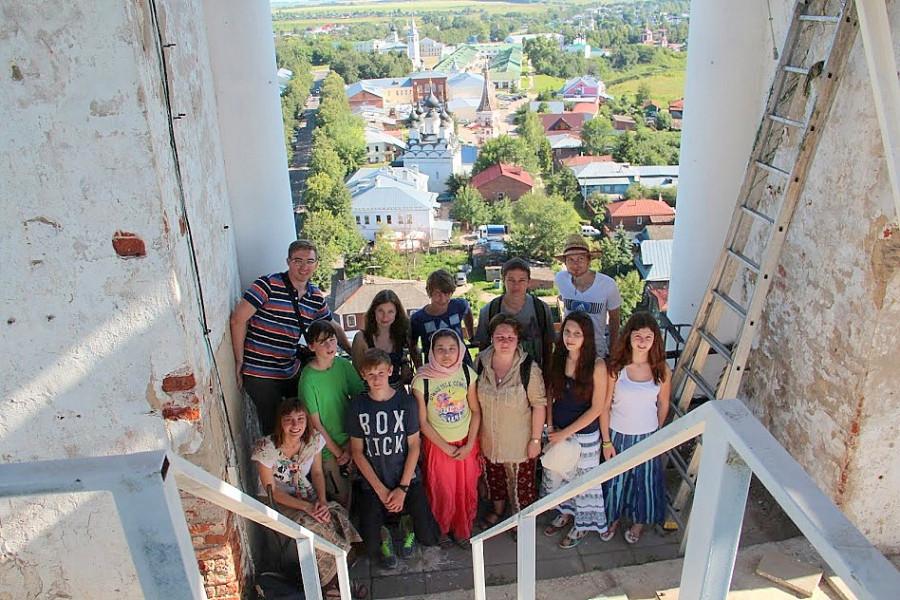 Колокольня Ризоположенского монастыря, г. Суздаль