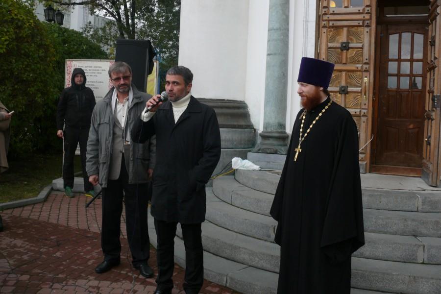 Олег Глаголев, Дмитрий Каштанов, священник Иоанн Никулин