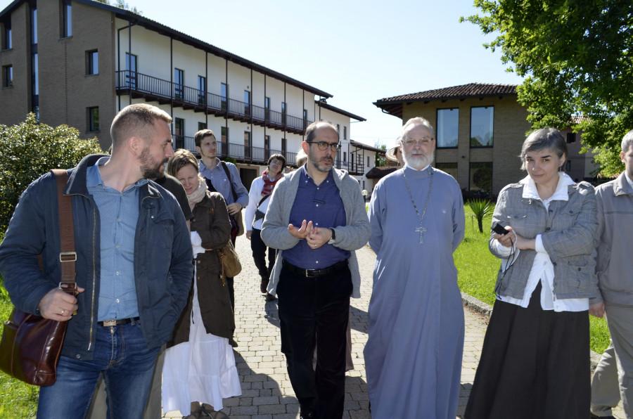 В центре – брат из монастыря Бозе Адальберто Майнарди и священник Георгий Кочетков