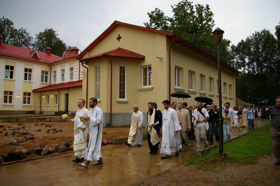 На освящении дома Культурно-просветительского центра «Преображение». 2008 год