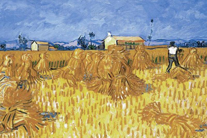 Винсент Ван Гог Пшеничное поле со снопами. 1888