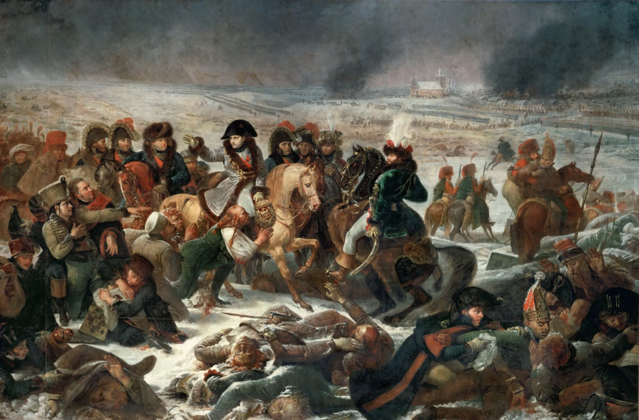 Гро Антуан-Жан. Наполеон на поле битвы при Прейсиш-Эйлау. Париж, Лувр. 1808 г.