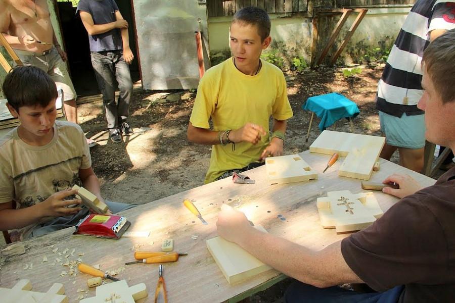 Общий лагерь, мастерская по изготовлению пасхальниц
