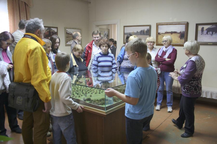 В музее В.А. Серова