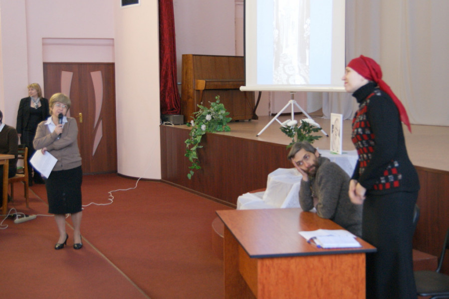 Слева направо: Ольга Тушина, Максим Якубсон, Елена Лебедева