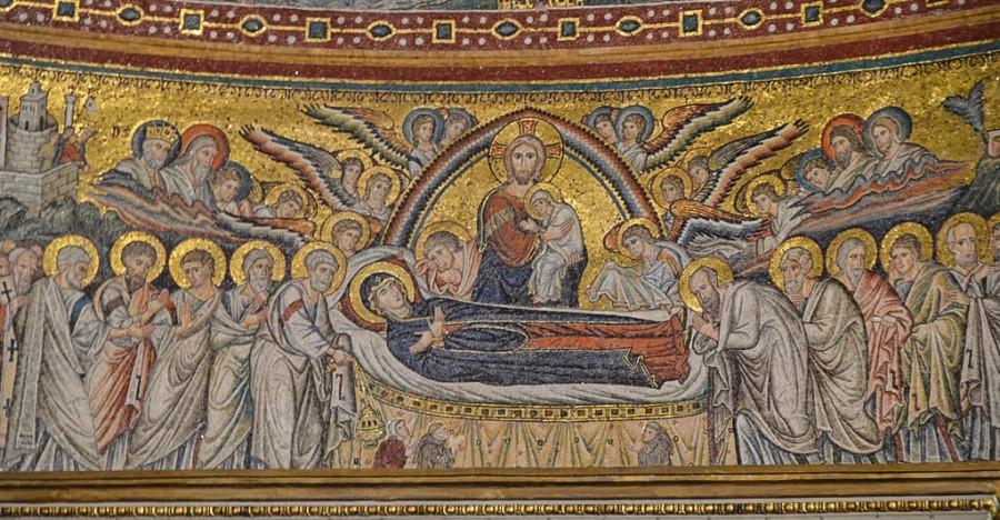 Успение Пресвятой Богородицы (фрагмент). Церковь Санта Мария Маджоре (Рим, XIII век)