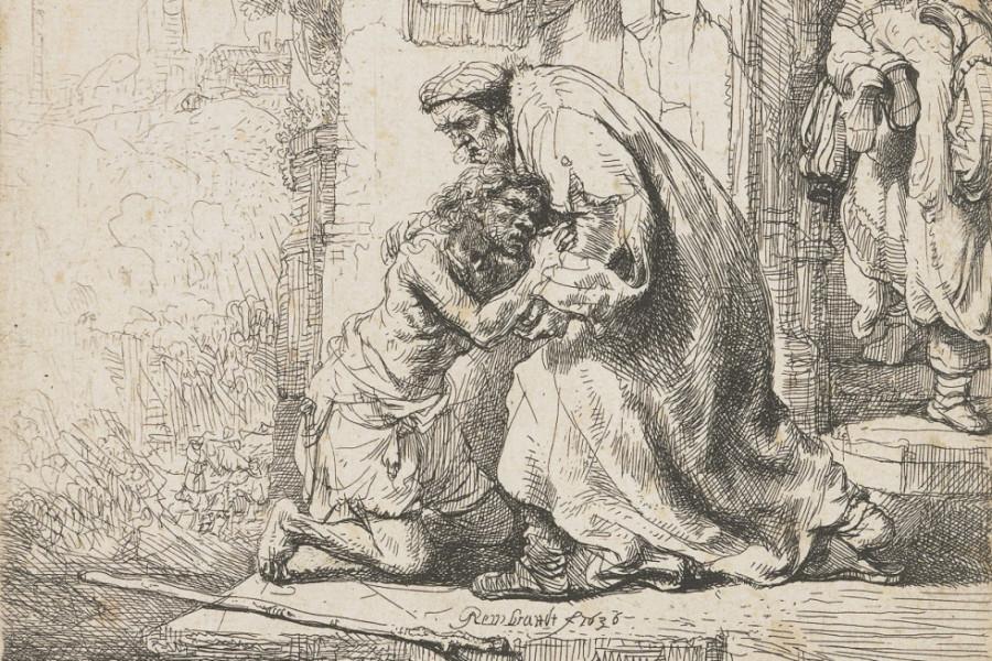 Рембрандт Харменс ван Рейн. Возвращение блудного сына (1636)