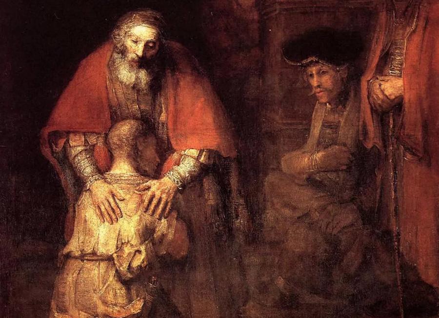 Рембрандт Харменс ван Рейн. Возвращение блудного сына, 1669.
