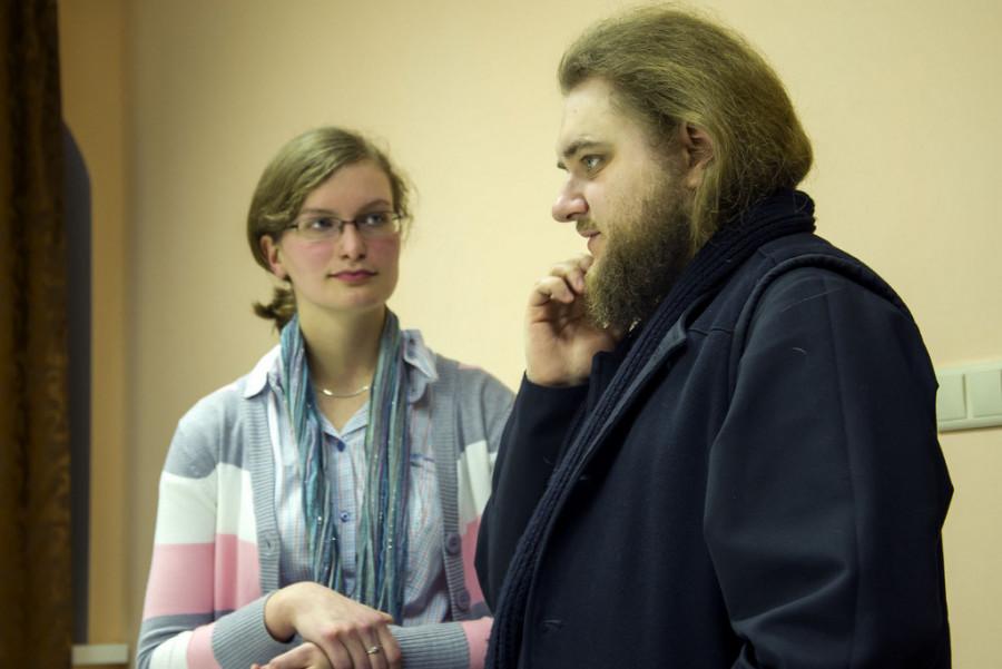 Архим. Савва (Мажуко) и Юлия Штонда
