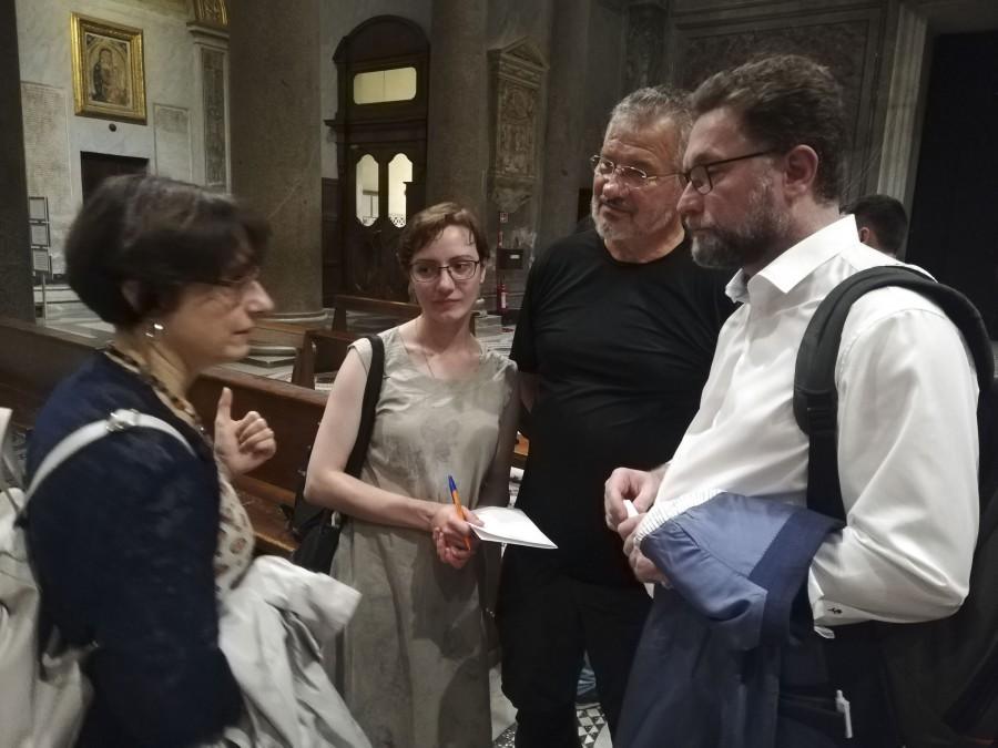 С Аристиде де Марки, членом братства Шарля де Фуко в Италии. Аристиде не раз бывал на соборах и встречах нашего братства в Москве, он приехал в Рим специально, чтобы встретиться с нами