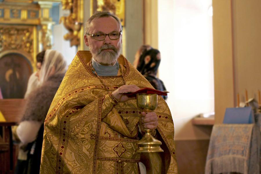 На литургии в Новодевичьем монастыре. 2011 год
