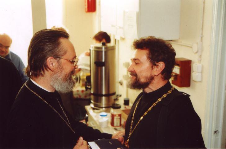 С протоиереем Сергием Овсянниковым. Амстердам, 2003 год