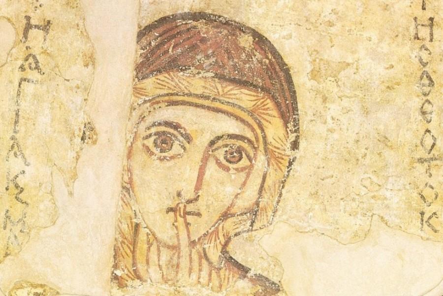Фреска с изображением Св. Анны из Национального музея в Варшаве. VIII век