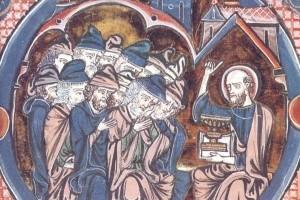Проповедь апостола Павла. Библия св.Людовика, XIII век. Толедо (Испания).