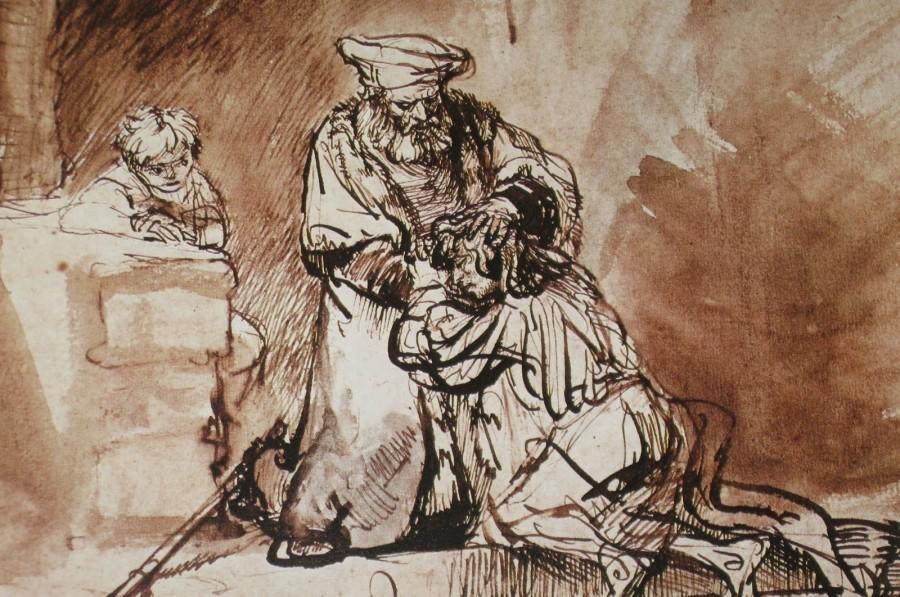Рембрандт Харменс ван Рейн. Возвращение блудного сына (наброски)