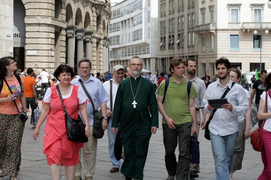Паломничество с послушниками в Италию. Милан, 2012 год