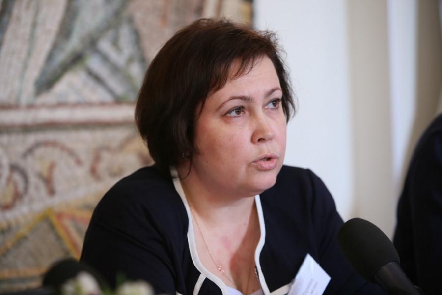 Марина Наумова, проректор СФИ, представила доклад «Служение мирян в экклезиологии протопресвитера Николая Афанасьева и в современных церковных документах»