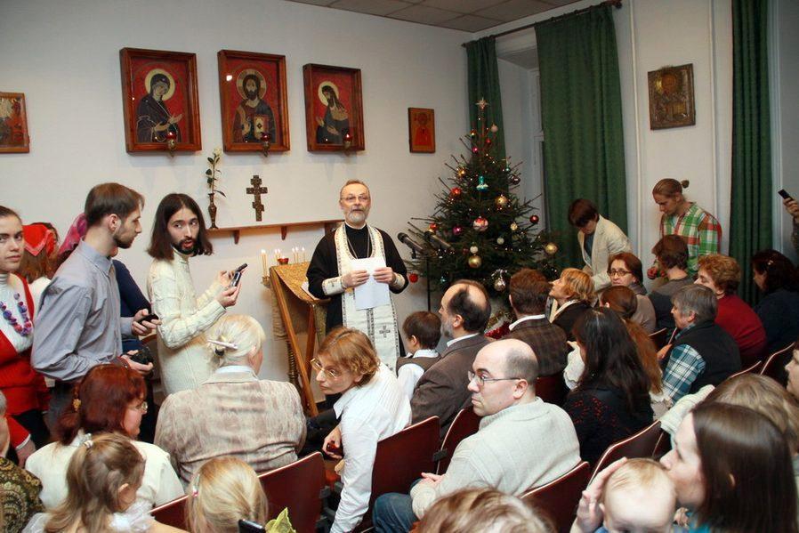 Новогодний молебен в Свято-Филаретовском институте